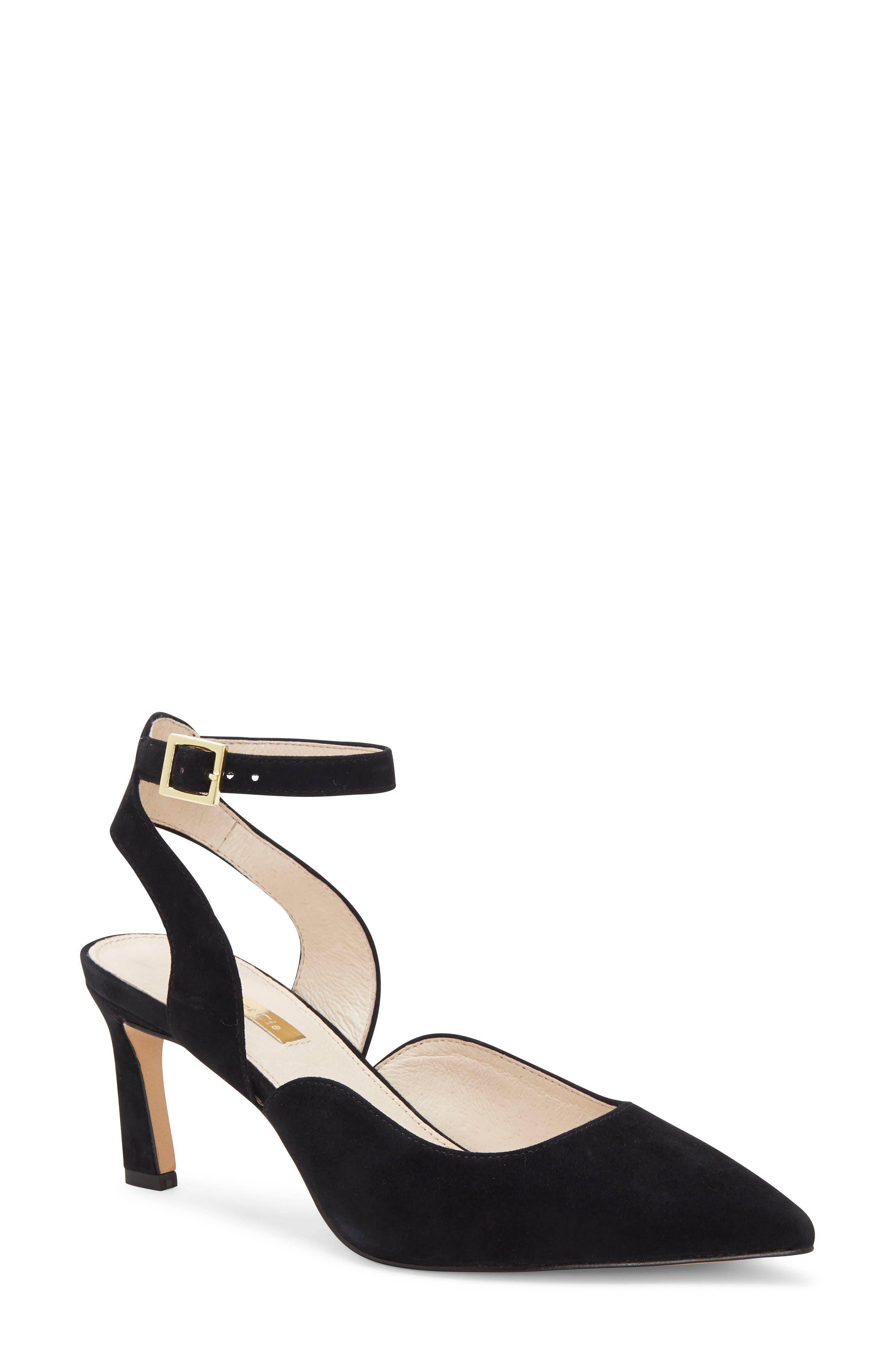 Louise Et Cie Kayin Ankle Strap Pump- Black