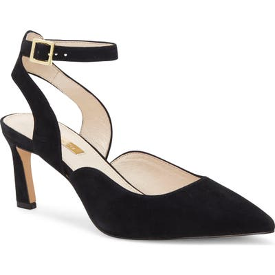 Louise Et Cie Kayin Ankle Strap Pump- Black