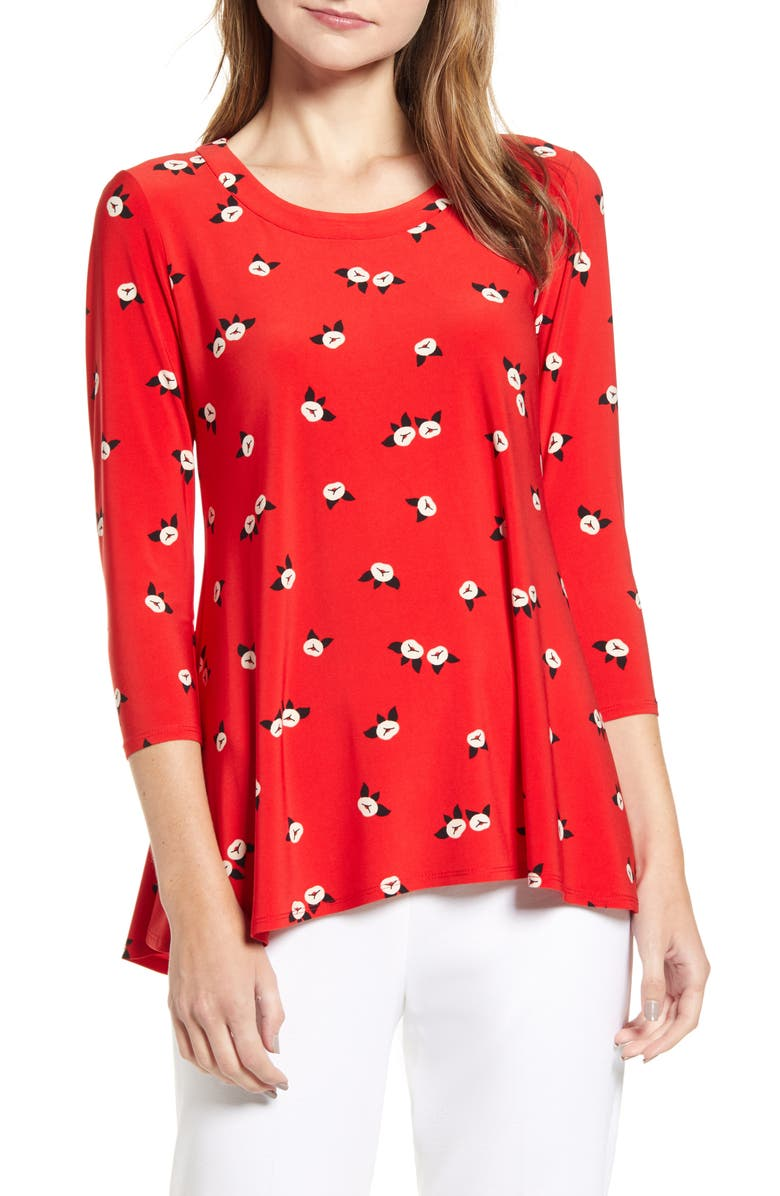Anne Klein Chatterly Rose Trapeze Top Nordstrom
