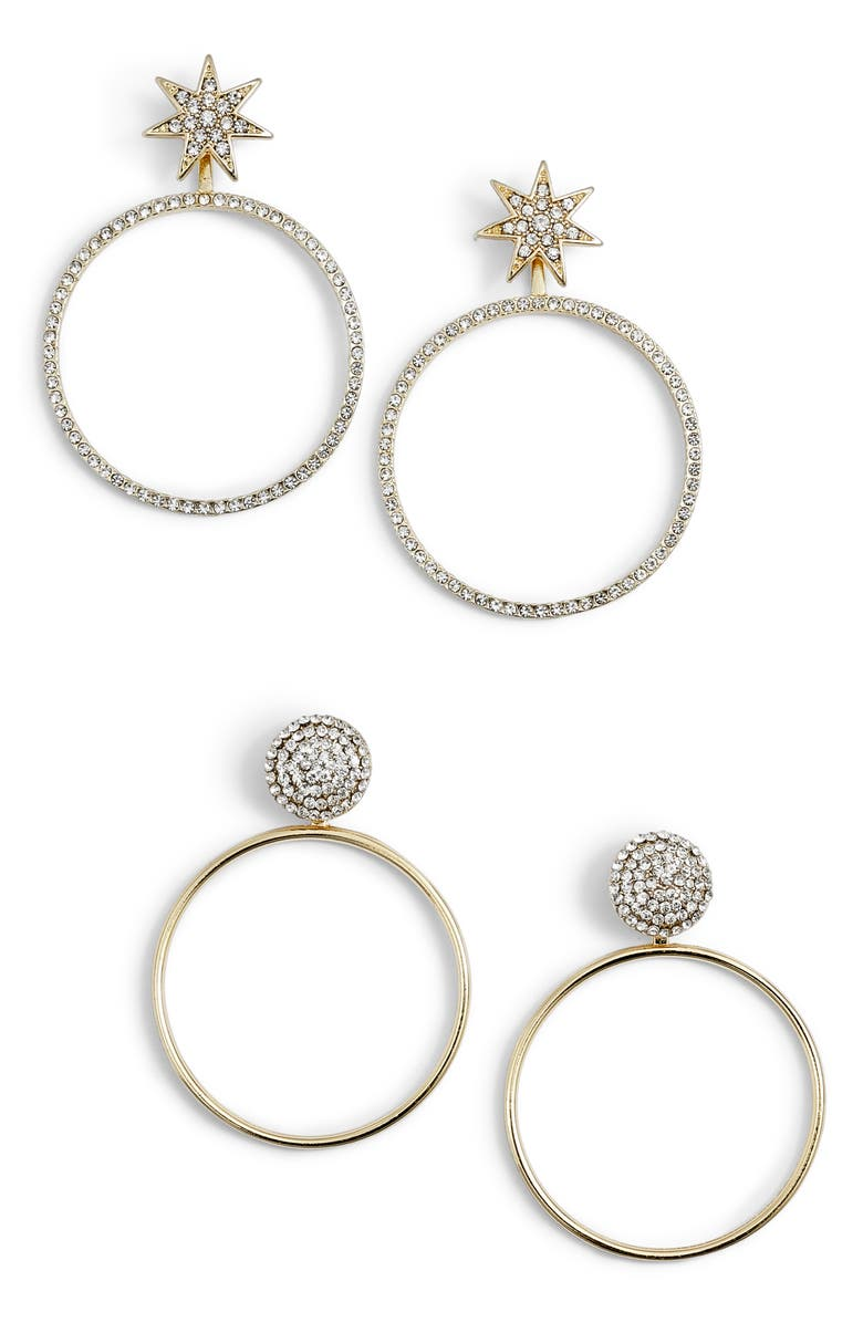 BAUBLEBAR Twilight Set of 2 Hoop Earrings, Main, color, 710