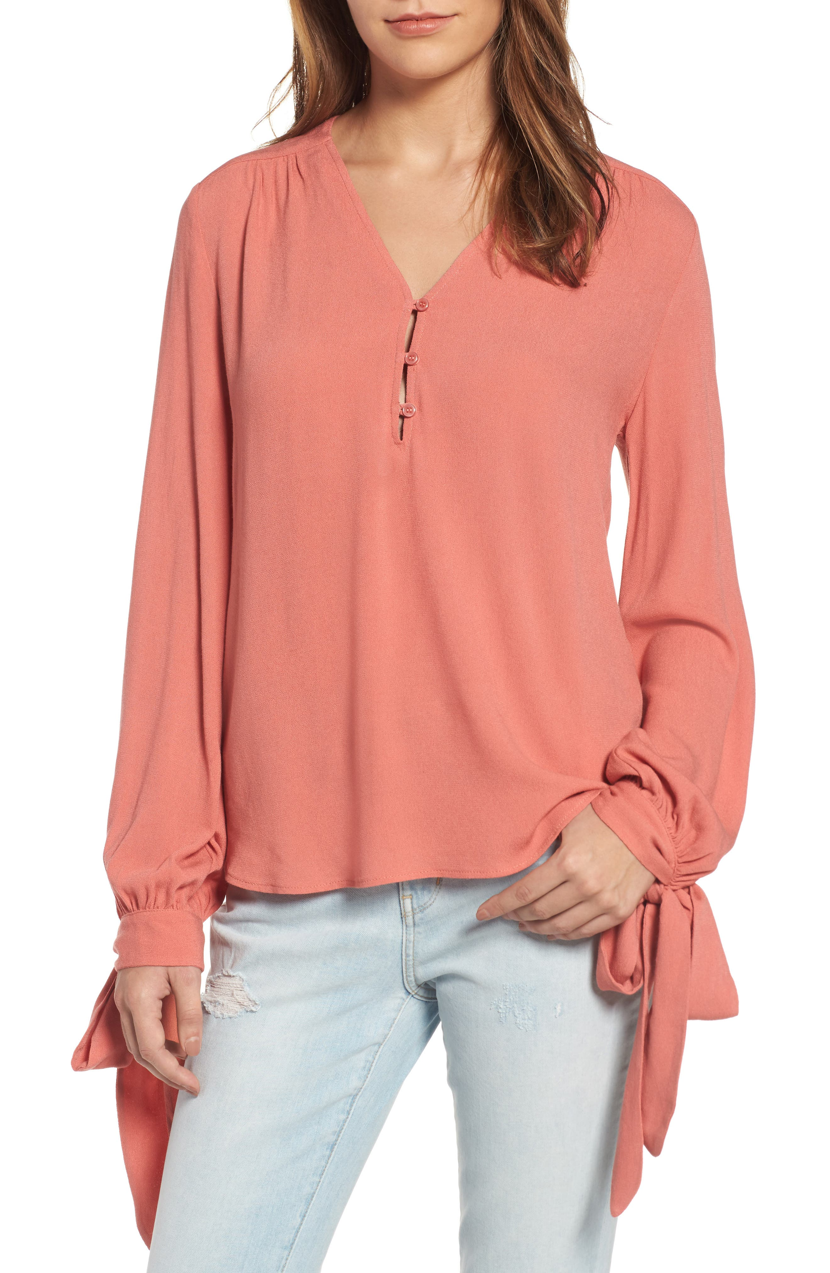 ,                             Tie Sleeve Top,                             Main thumbnail 18, color,                             950