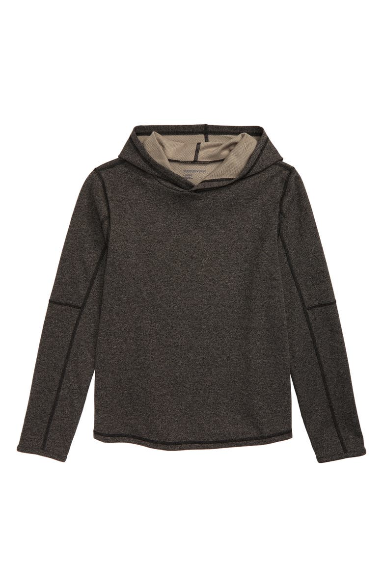 TUCKER + TATE Overnighter Pullover Hoodie, Main, color, BLACK HEATHER