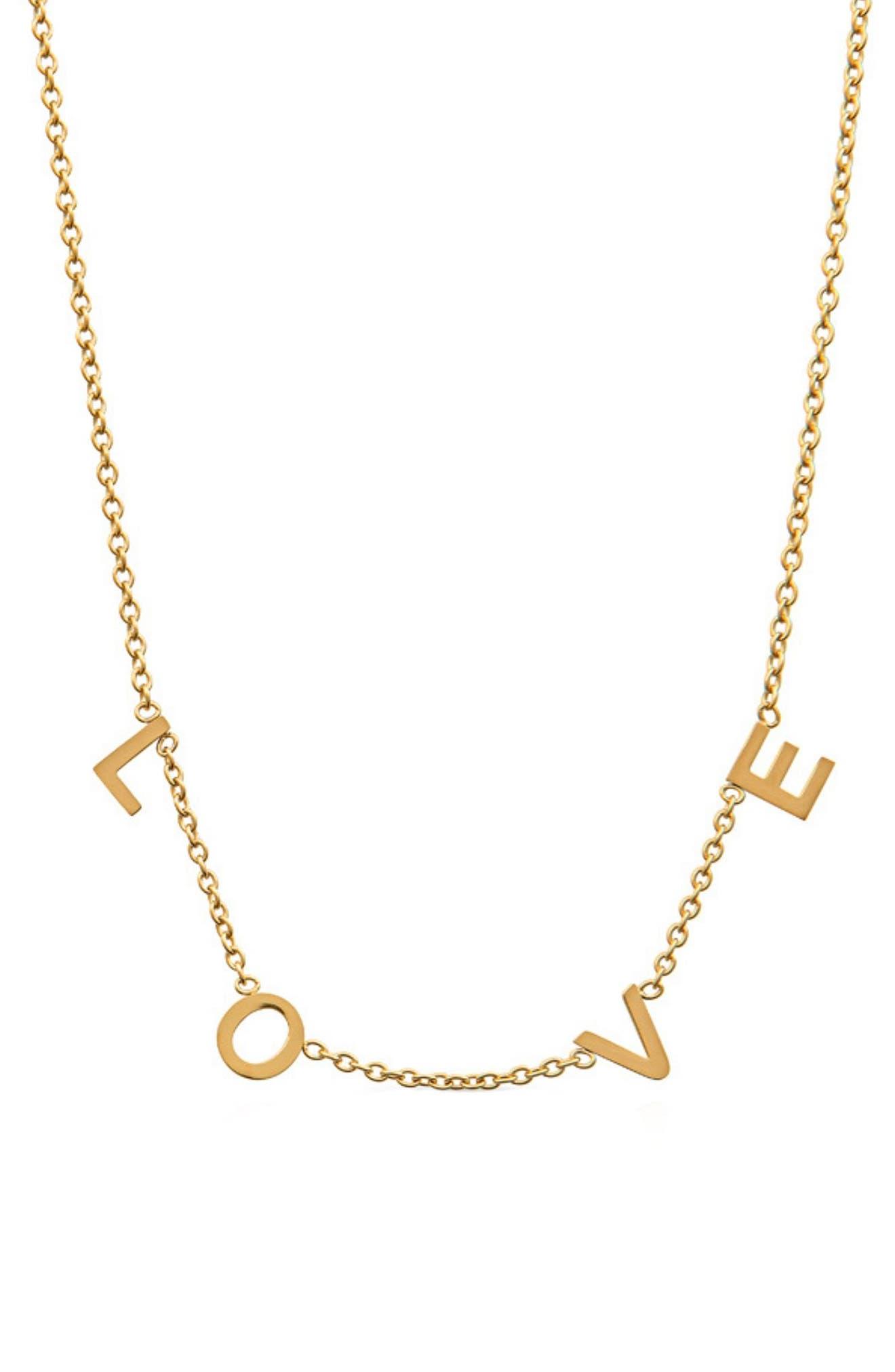 Love Letter Station Necklace