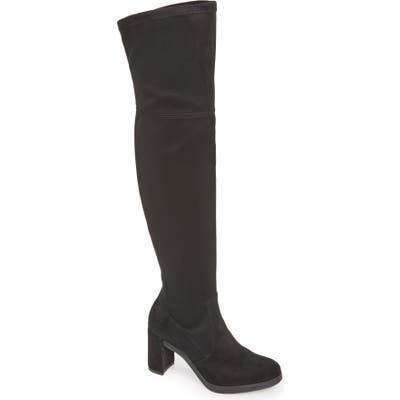 Wonders Over The Knee Stretch Boot, Black