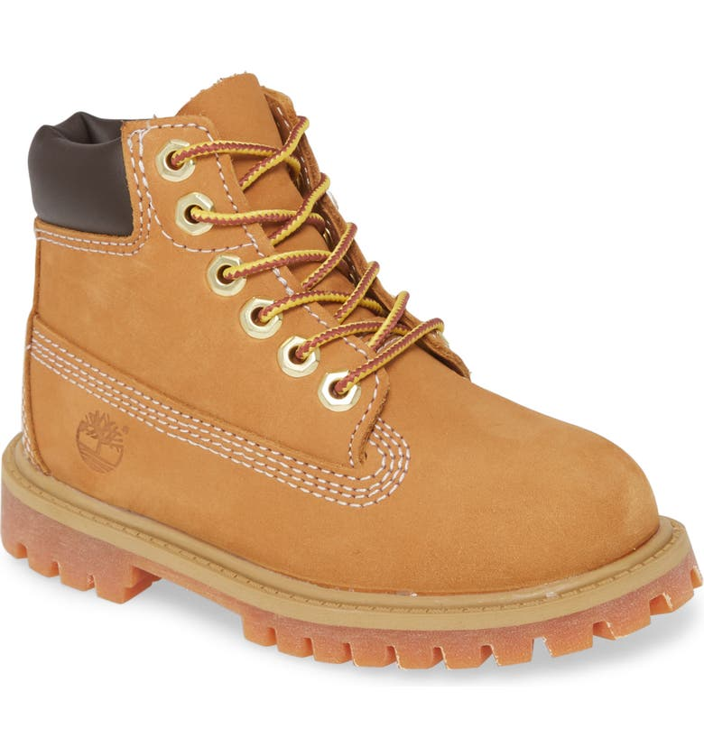 TIMBERLAND 6-Inch Premium Waterproof Boot, Main, color, WHEAT NUBUCK