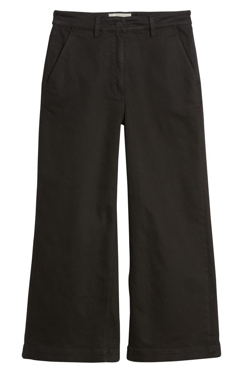 EVERLANE The Wide Leg Crop Pants, Main, color, TRUE BLACK