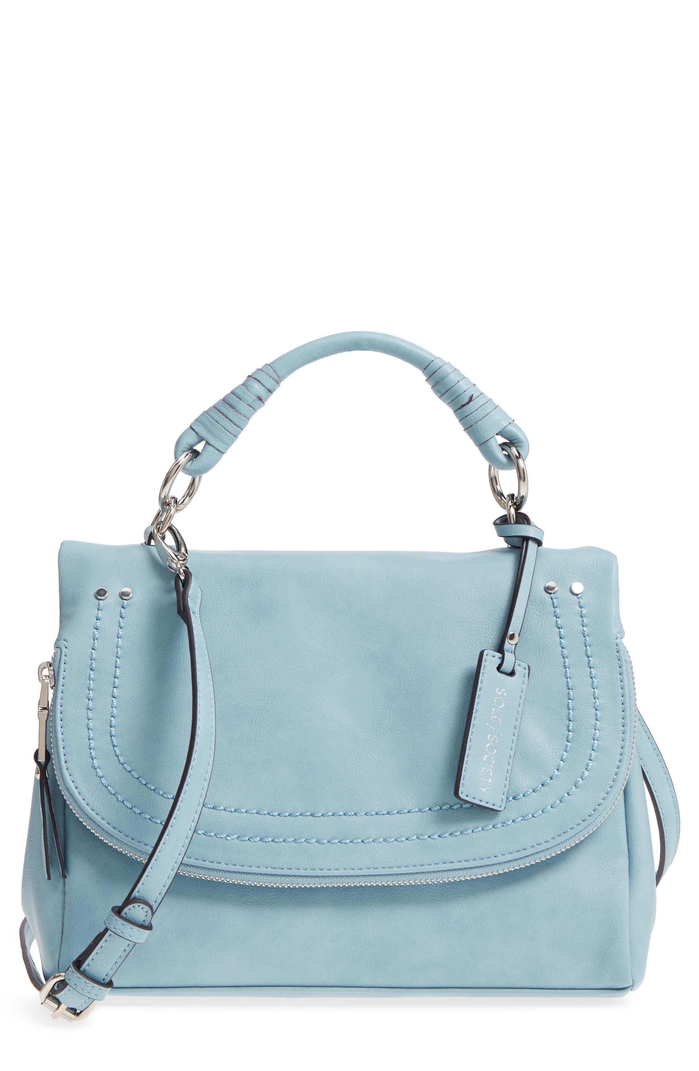 ,                             Top Handle Faux Leather Crossbody Bag,                             Main thumbnail 13, color,                             409