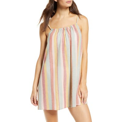 Madewell Tie-Back Cover-Up Minidress, Coral