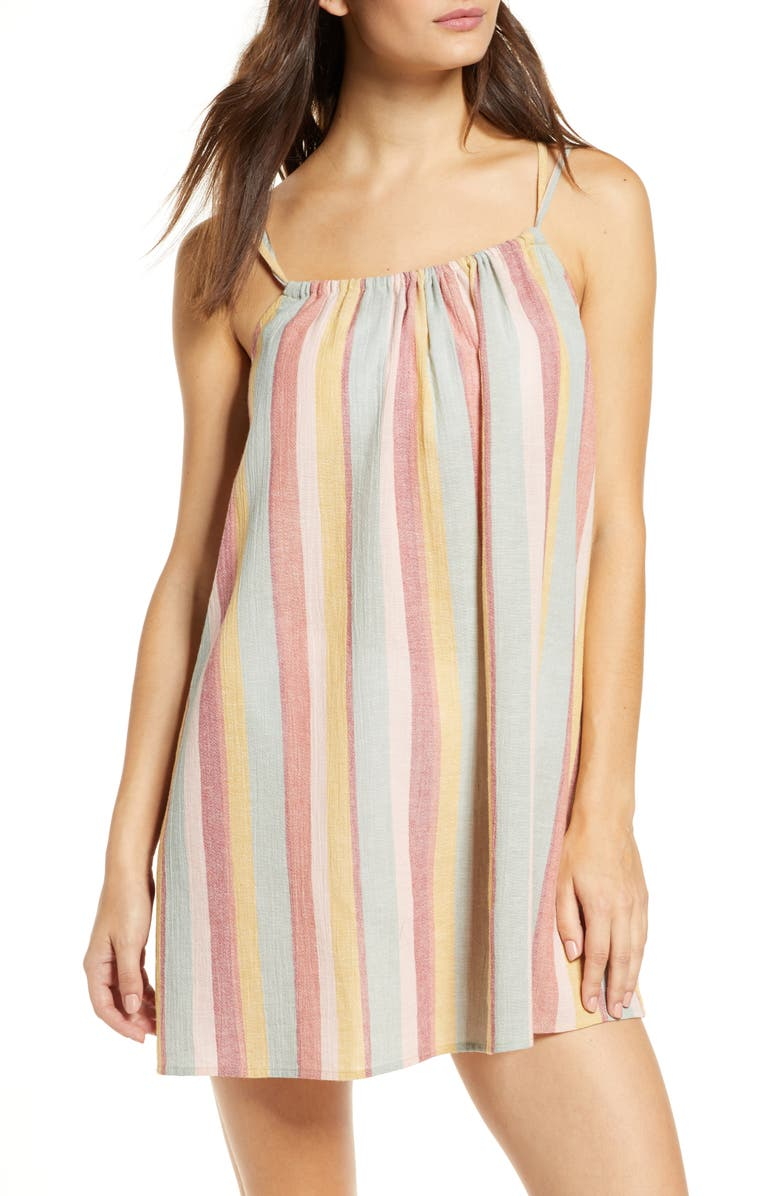 MADEWELL Tie-Back Cover-Up Minidress, Main, color, 950