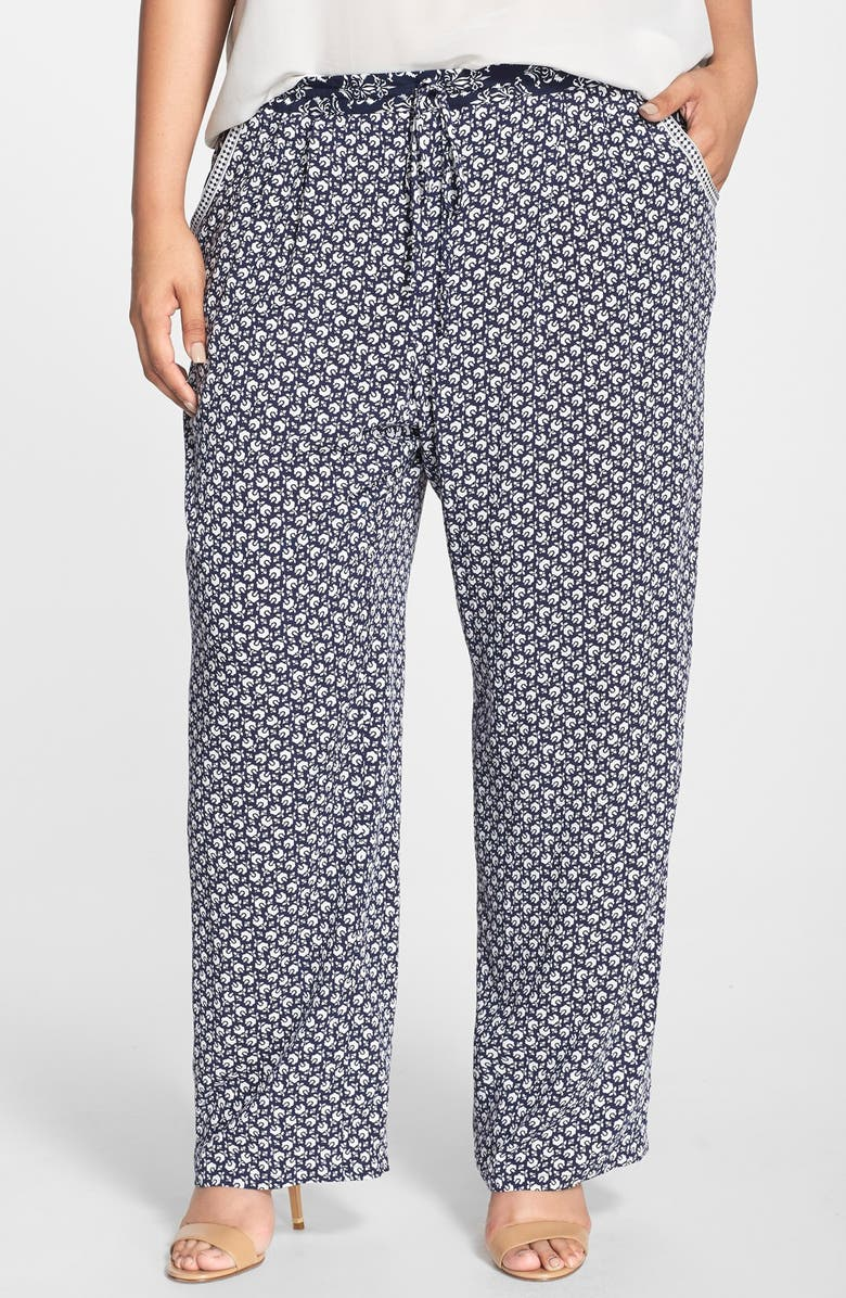 TWO BY VINCE CAMUTO 'Rabat Flower' Wide Leg Pants, Main, color, 410
