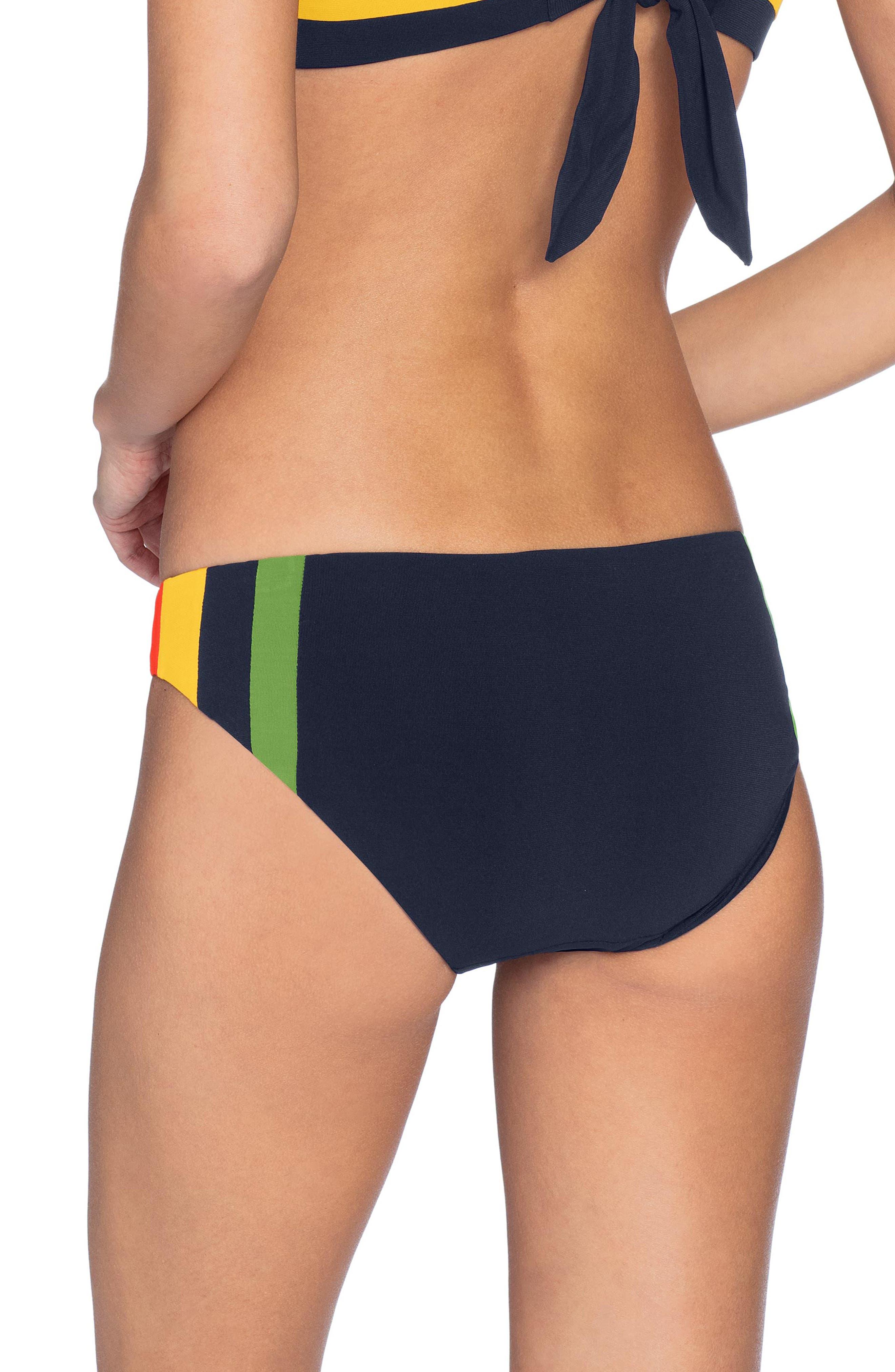 ,                             Casey Side Colorblock Bikini Bottoms,                             Alternate thumbnail 2, color,                             NAVY MULTI