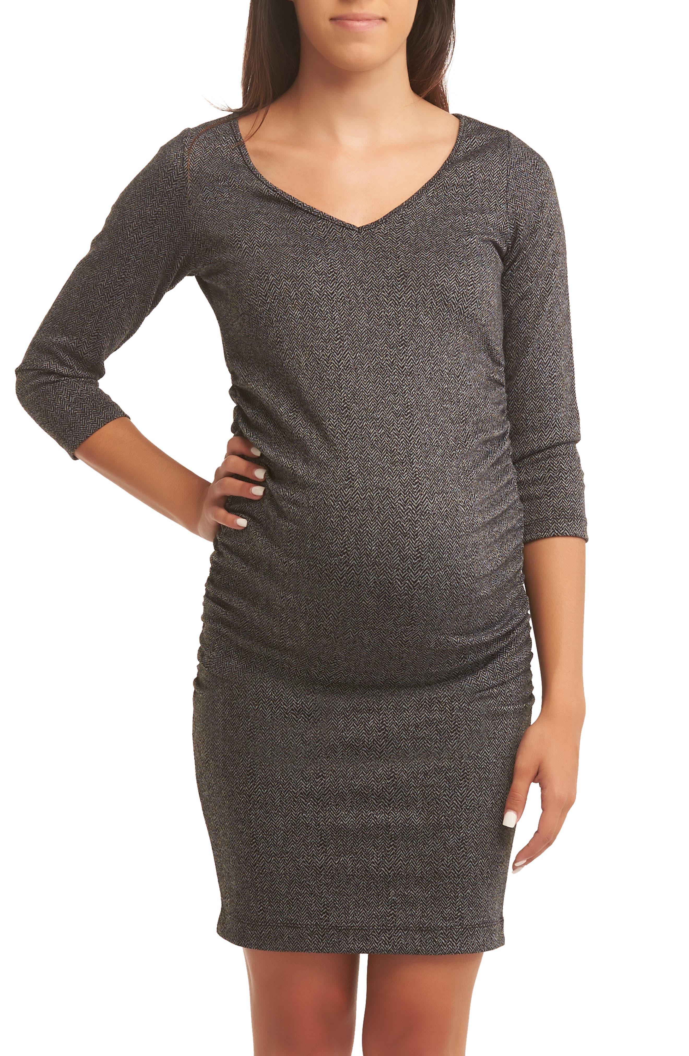 Baby Moon Darianna Maternity Dress, Black