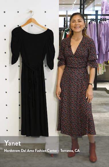 Ruched Sleeve Jersey Crop Jumpsuit, sales video thumbnail