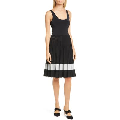 Theory Pleated Tank Dress, Size Petite - Black