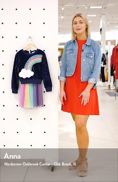 Rainbow Sweatshirt & Tulle Dress Set, sales video thumbnail