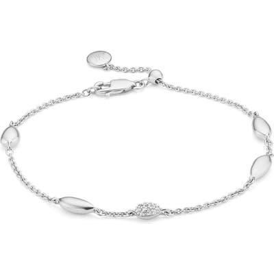 Monica Vinader Nura Teardrop Diamond Bracelet