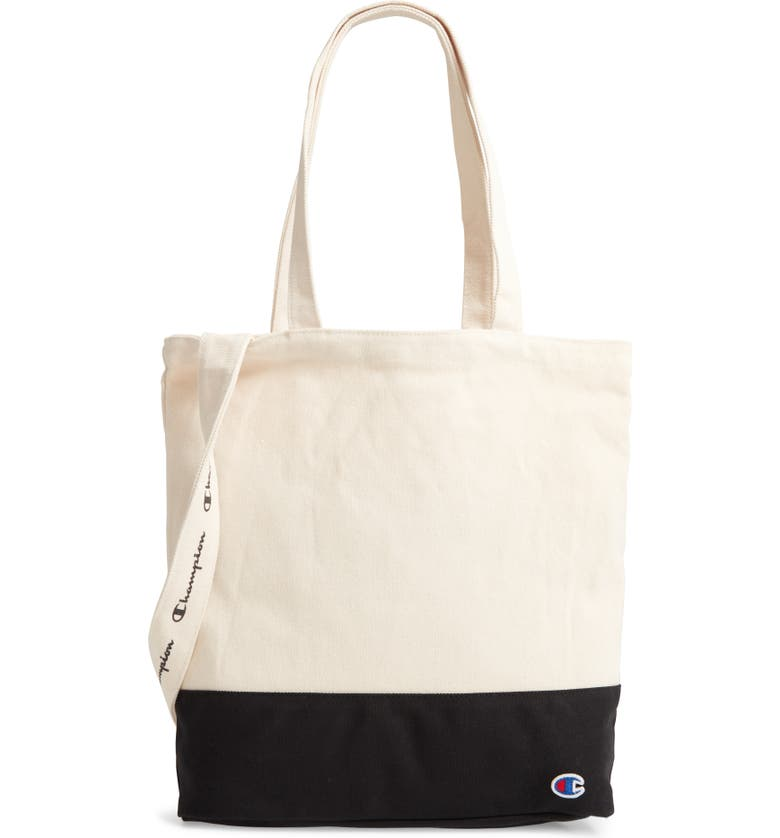 CHAMPION Foundation Canvas Tote Bag, Main, color, BLACK
