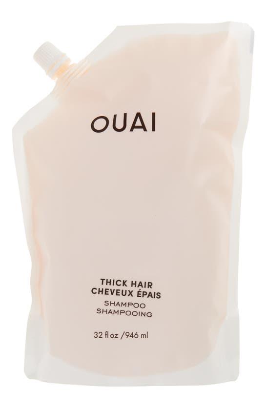 Ouai Thick Hair Shampoo Refill (946ml) In White