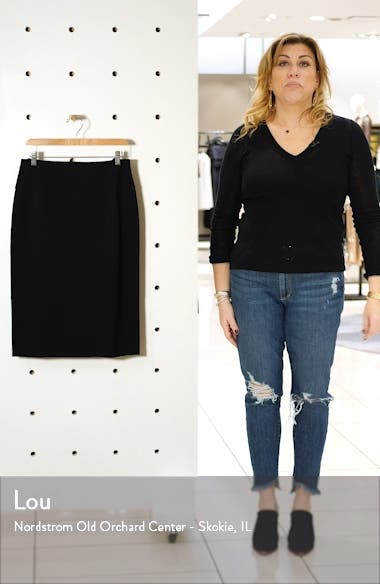 Ponte Pencil Skirt, sales video thumbnail