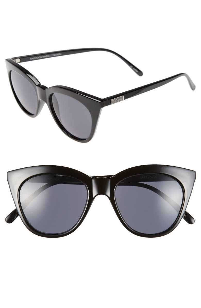 LE SPECS Halfmoon Magic 51mm Cat Eye Sunglasses, Main, color, 001
