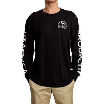 Rvca Wicks Long Sleeve T-Shirt, Black