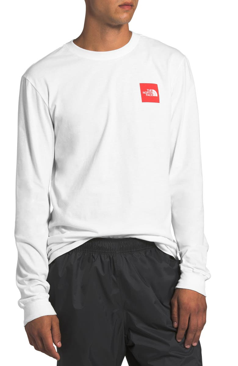 THE NORTH FACE Red Box Long Sleeve Graphic Tee, Main, color, TNF WHITE