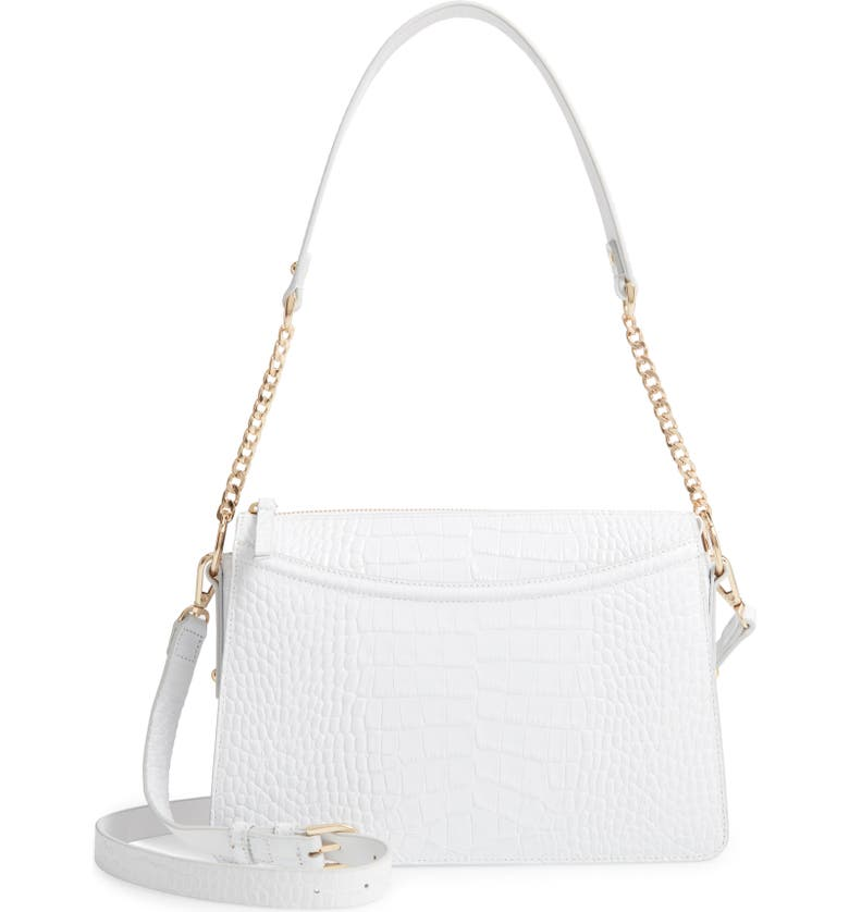 NORDSTROM Lola Leather Crossbody Bag, Main, color, 100