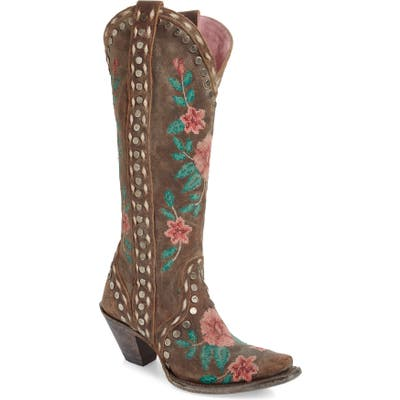 Lane Boots Wild Stitch Embroidered Boot- Brown