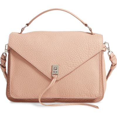 Rebecca Minkoff Darren Leather Messenger Bag - Beige