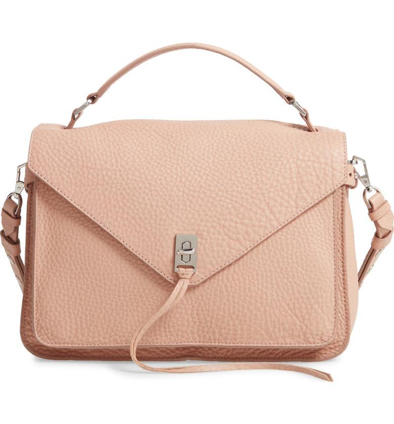 REBECCA MINKOFF Darren Leather Messenger Bag, Main, color, DOE