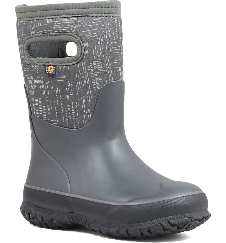 BOGS Grasp Sparks Waterproof Insulated Boot, Main, color, GRAY MULTI