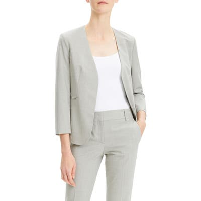 Theory Lindrayia B Good Wool Suit Jacket, Grey (Nordstrom Exclusive)