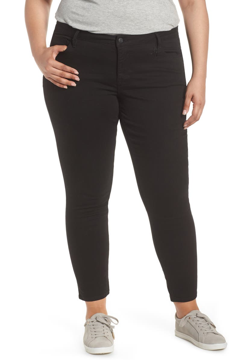 VIGOSS Marley Crop Skinny Jeans, Main, color, BLACK