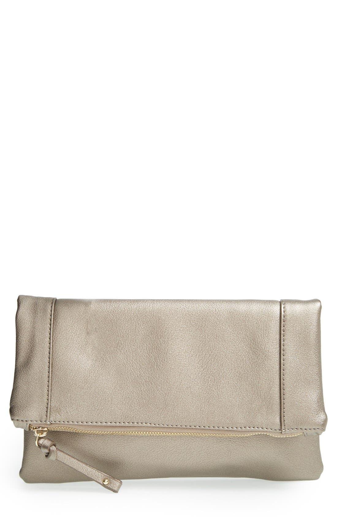 ,                             Marlena Faux Leather Foldover Clutch,                             Main thumbnail 39, color,                             228