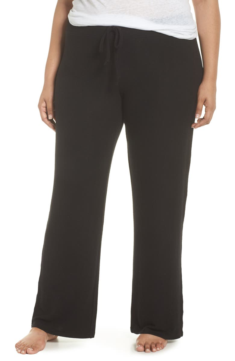 MAKE + MODEL 'Best Boyfriend' Brushed Hacci Lounge Pants, Main, color, BLACK