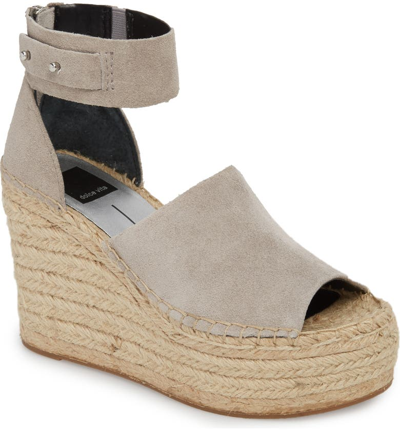 DOLCE VITA Straw Wedge Espadrille Sandal, Main, color, 033
