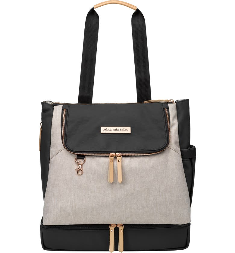 PETUNIA PICKLE BOTTOM Pivot Diaper Backpack, Main, color, SAND/ BLACK