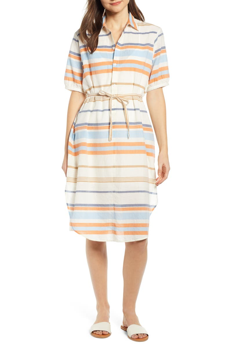 THE ODELLS Lundi Tie Waist Dress, Main, color, ATRANI