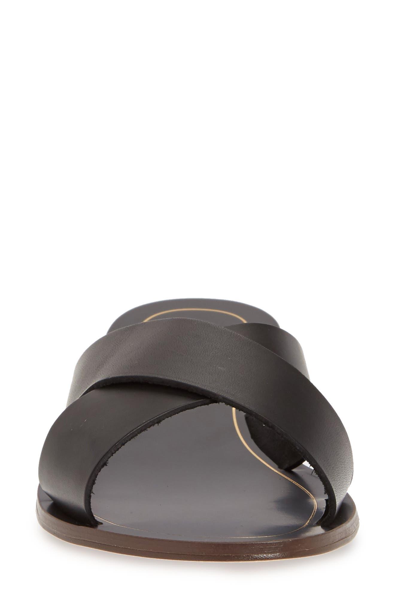 ,                             Cyprus Slide Sandal,                             Alternate thumbnail 4, color,                             BLACK