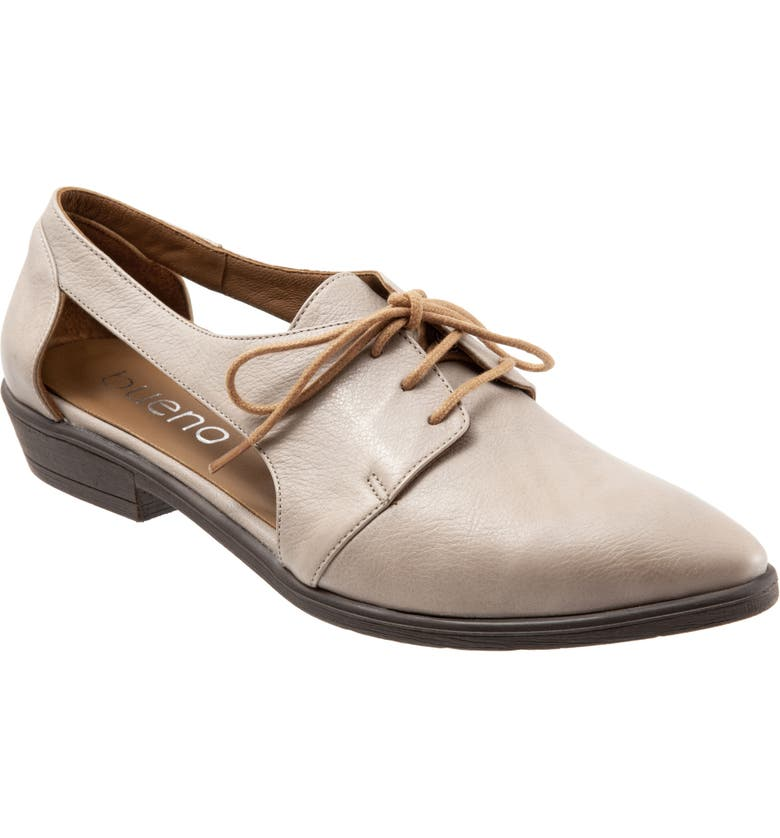 BUENO Olivia Derby Flat, Main, color, GREY/METALLIC