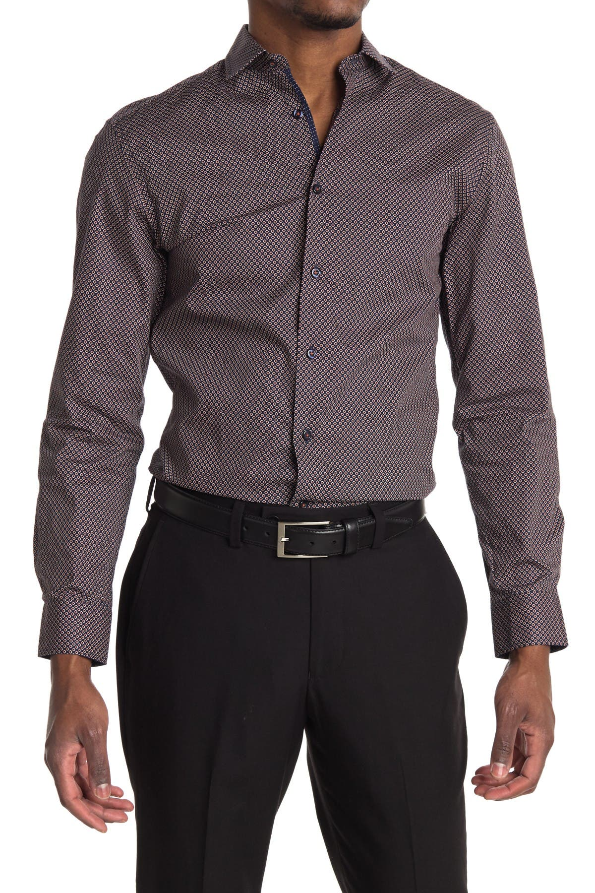 Image of SOUL OF LONDON Micro Print Dress Shirt