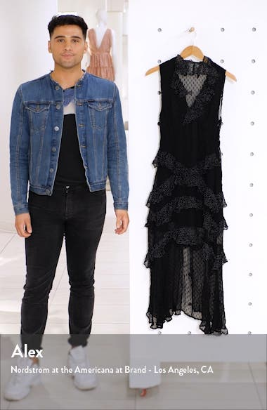 Spot Ruffle Midi Dress, sales video thumbnail