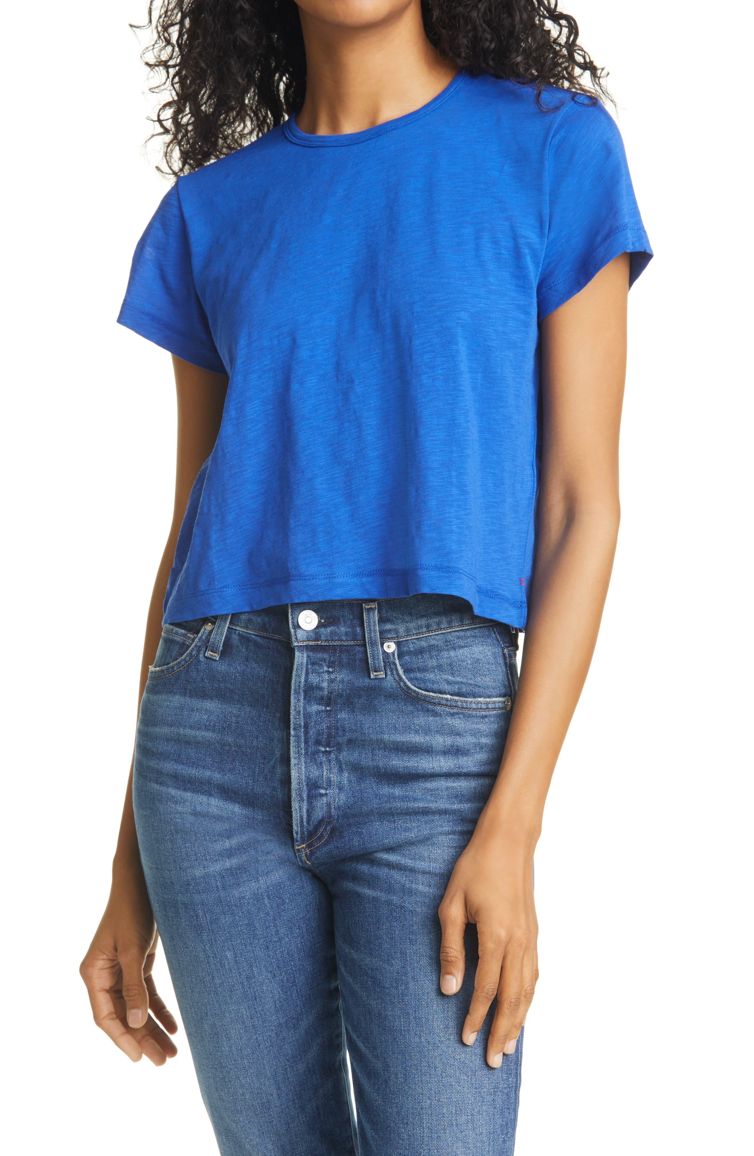 Rickie Slub Cotton Crop T-Shirt