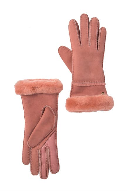 Image of UGG Genuine Shearling Tech Screen Compatible Gloves - Slim Fit