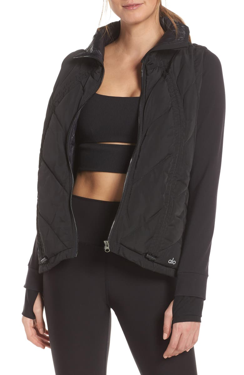 ALO Cabin Fever Jacket, Main, color, BLACK