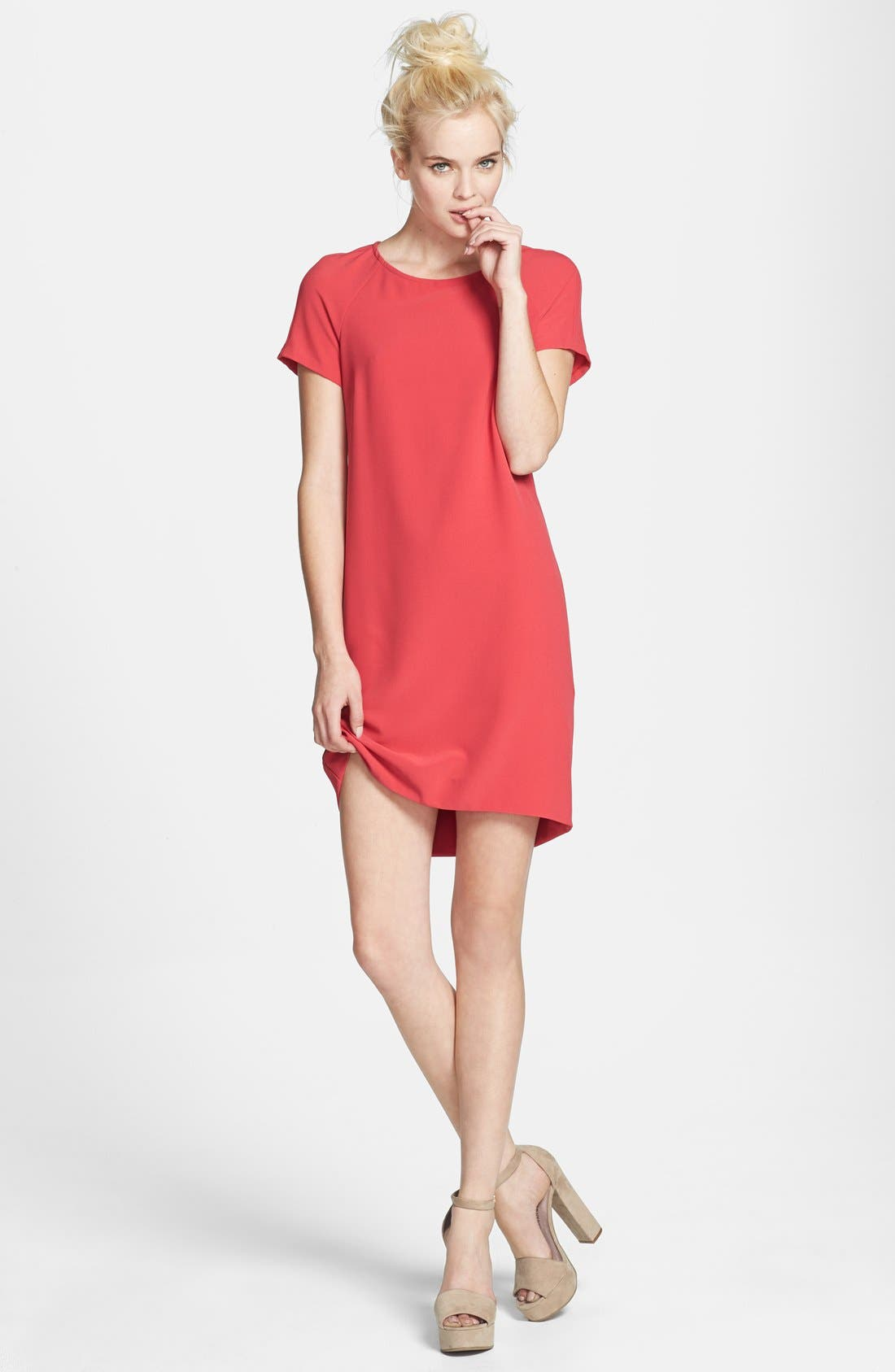 ,                             Crepe Shift Dress,                             Main thumbnail 13, color,                             651