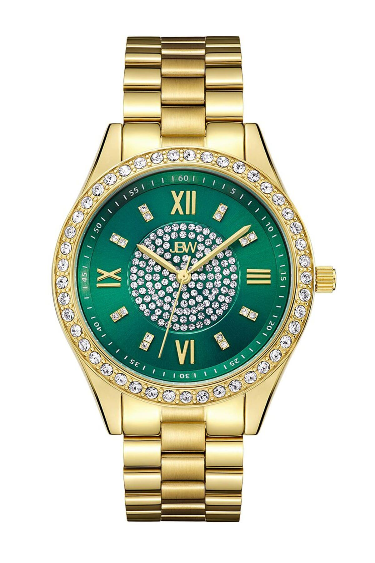 Image of JBW Women's Mondrian 18K Gold Plated Stainless Steel Diamond Bracelet Watch, 37mm - 0.16 ctw