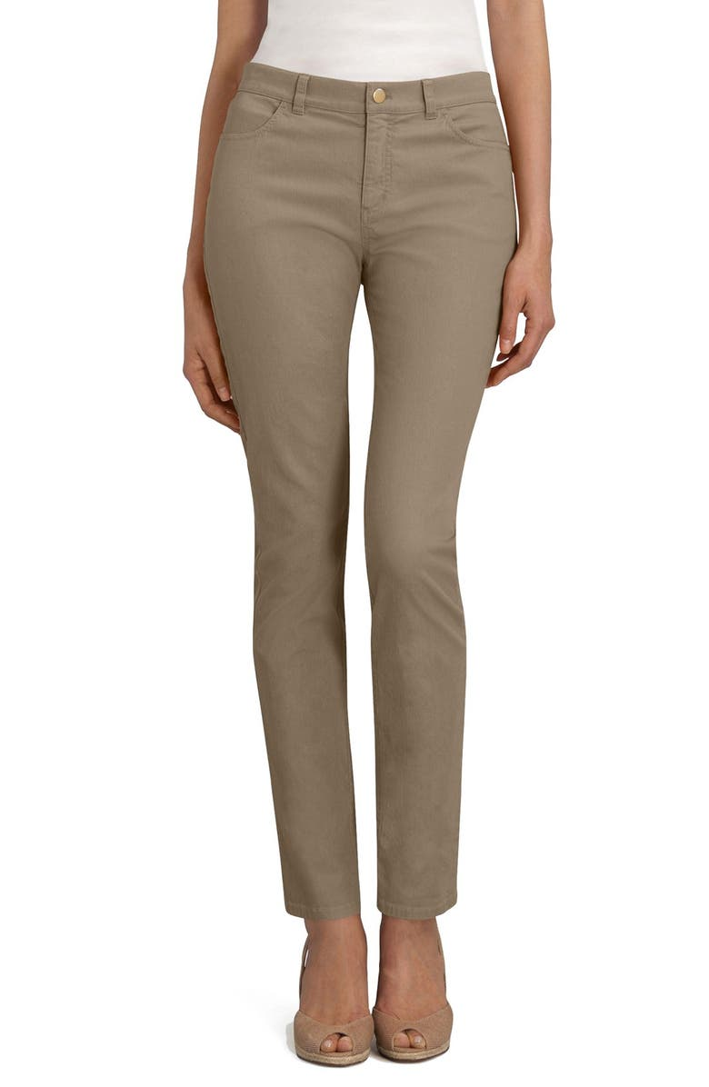 LAFAYETTE 148 NEW YORK 'Primo Denim' Curvy Fit Slim Leg Jeans, Main, color, TUMBLEWEED