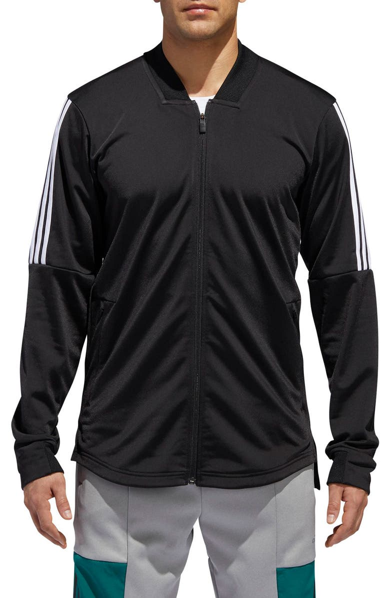 ADIDAS ID Tricot Bomber Jacket, Main, color, BLACK