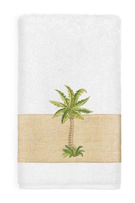 Image of LINUM HOME Colton Embellished Bath Towel - White